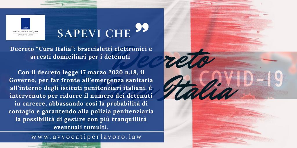 """Decreto """"Cura Italia"""" braccialetti elettronici e arresti domiciliari per i detenuti"""